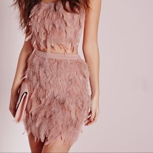 Missguided Feathered Mini Skirt💋 BNWT!!